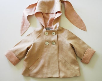 Bunny Rabbit Linen Jacket