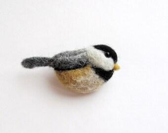 Chickadee brooch