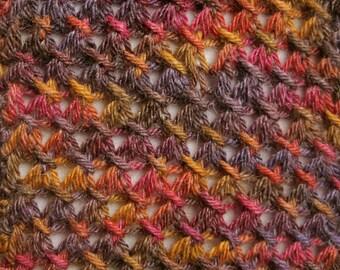Knit Scarf Pattern:  Long, Skinny, Lace Knitted Scarf Pattern