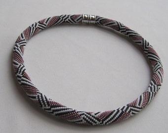 Bead Crochet Necklace:  M.C. Escher's Favorite Bead Crochet Necklace Pattern