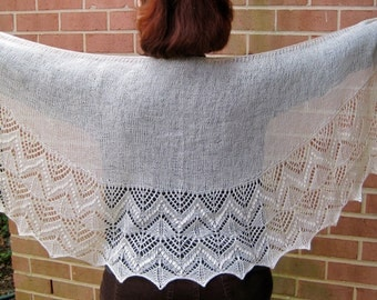 Knit Shawl Pattern:  Mountain Climbers Shawlette Knitting Pattern