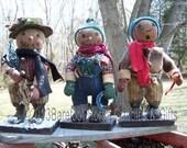 Handmade Primitive Snowmen