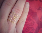 Spiral heart ring 14k gold filled