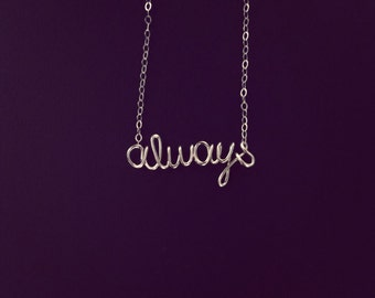 Name/ Word Necklace 14k gold filled 6 letters or less