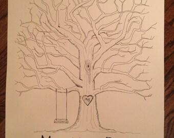 Wedding Guestbook Fingerprint Tree (small)