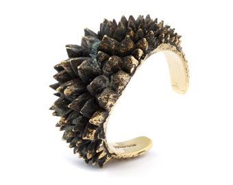 Spike Cuff - Gold Spike Cuff - Chunky Metal Cuff - Punk Spike Jewelry