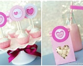 Valentine's Day PRINTABLE diy Party Collection by anna and blue paperie