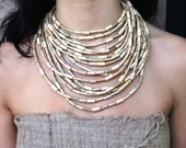 Large Tribal Bamboo Necklace