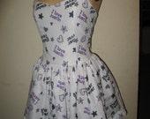 Custom made to order Justin Bieber Sweetheart Ruffled Mini Dress