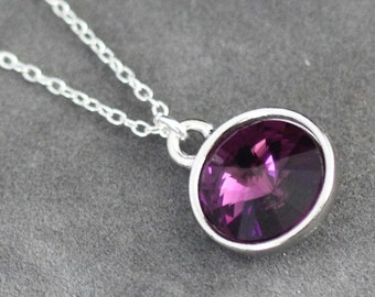 Amethyst Necklace, February Birthstone Necklace, Purple Amethyst Jewelry, February Birthstone Jewelry, Purple Necklace