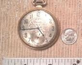 Vintage Art Deco Elgin 14 karat Gold Pocket Watch Time Piece Clock UPDATED information