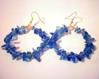 lovely glass hoops/choose your color/ready to ship