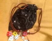 Black Outerspace Dice Bag