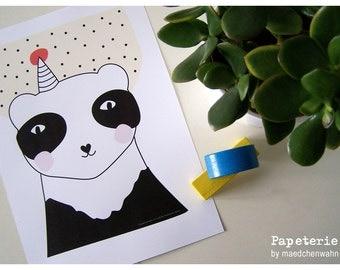 Panda, A4 Print Poster