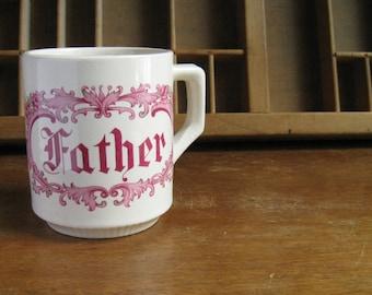 Vintage Father Mug Pink Fathers Day Gift