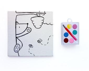 Kids Craft Kit - Bear and Bees Watercolor Set