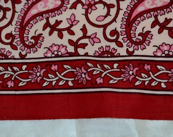 Indian Summer Pure Cotton Fabric in paisley design