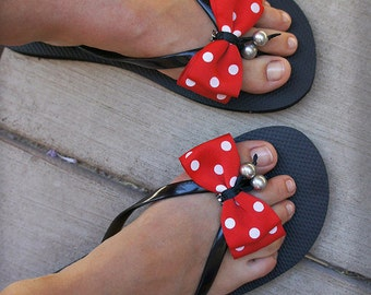 Olivia Paige -Pin up polka dot  Bows  shoe Clips