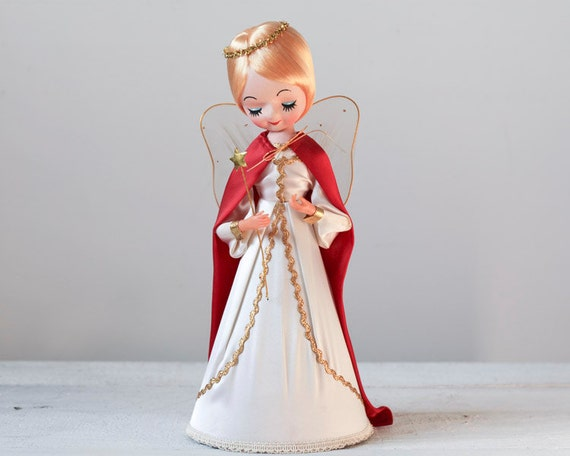 Vintage Angel Christmas Tree Topper