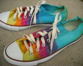 Tie dye Converse All Star shoes