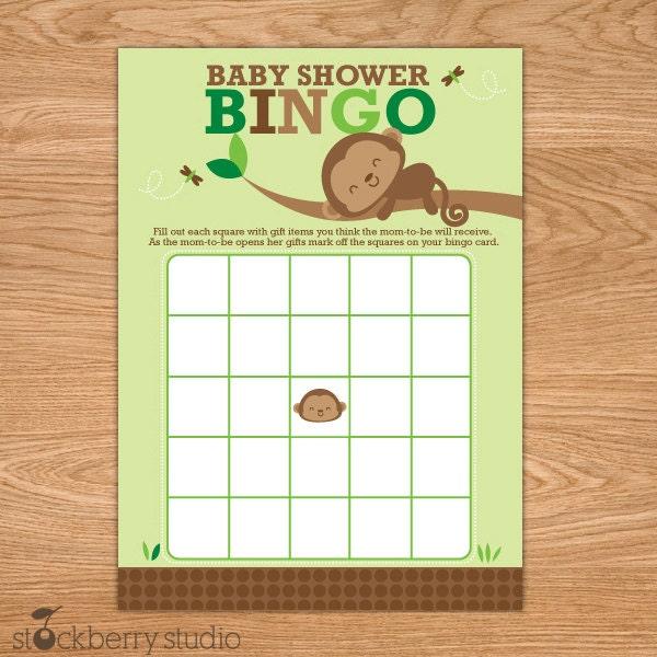 Monkeys Playing Bingo Monkey Bingo Card Printable