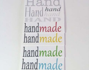 Handmade Care Hang Tags/ Handmade Care Instructions/ Handmade Gift Tags