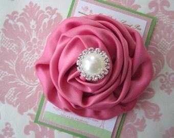 Girl hair clips - girl barrettes - flower hair clips