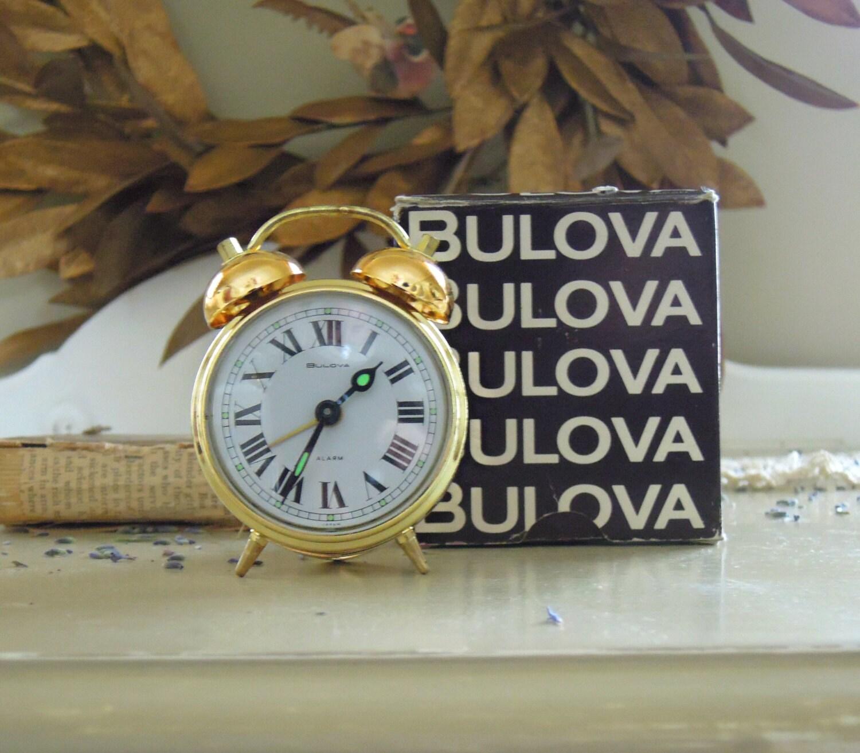 Vintage Bulova Alarm Clock Original Box And By