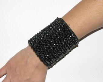 Black Cuff Bracelets Jewelry / bracelet/cuff  acrylic beads