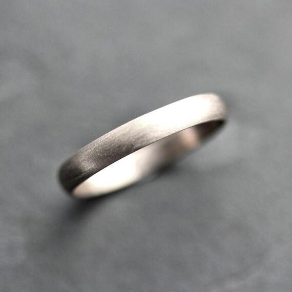 Weißgold ring damen  Damen Weissgold Eheringe 3mm eine halbe Runde Recycling 14k