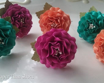 Napkin Ring - Paper Flowers - Wedding - Home Decor - Party Decorations - Custom Order - SET OF  25