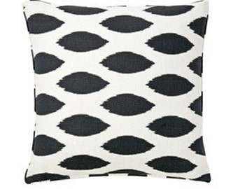 """Pillow Cover Cushion 24x24"""" black geometric pattern, available in other sizes and colors"""