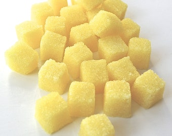 Lemon Flavored Sugar Cubes- Tea Party, Champagne Toast, Lemonade Parties, DIY Favors, Coffee, High Tea, Mad Hatter Tea Party