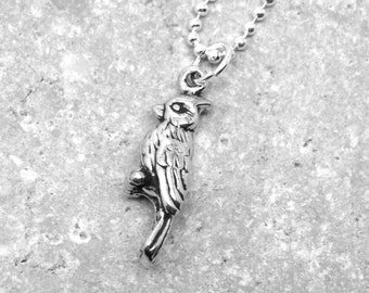 Cardinal Necklace, Cardinal Pendant, Cardinal Jewelry, Charm Necklace, Sterling Silver Jewelry, Sterling Silver Cardinal Charm, Cardinals