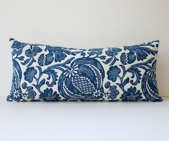 Modern Bolster Pillows : Batik Modern Bolster Designer Decorative Pillow by WhitlockandCo
