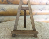 Large Rustic Chic Table-top EASEL - Natural or Rustic Stain