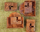 4 Rusty Metal Locks to add to your Collage and Art