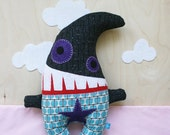 Barrie the Black Monster Plush - RESERVED for sweetdreamzalone