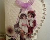 Vintage Engagement Anniversary Wedding Card