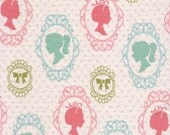 Girl Silhouette - FLANNEL Fabric - BTY