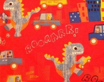 City Dinosaur - Roar - FLANNEL - Fabric BTY
