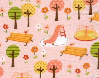 Girly Park - Pink - FLANNEL - Fat Quarter -FQ