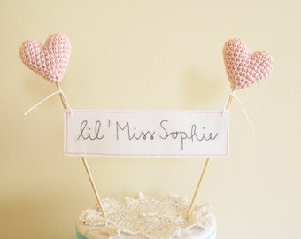 Baby Shower Cake Topper, Christening Cake Topper, Baptism Cake Topper, Birthday Cake Topper