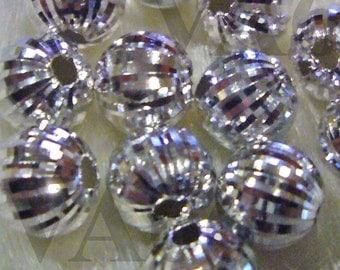 925 Pure Sterling Designer Silver Bali Beads Round 4p Size 6mm with Design Jewelry making findings, parts, loose beads
