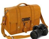 "15"" Sunrise Sonoma Voyager Leather Camera Bag - Made in America - CopperRiverBags"