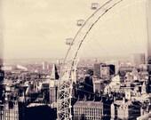 London in Black and White, London print, London Photo, London eye photo, Big Ben Clock Photo, Westminster, Thames River, Clock Tower, art