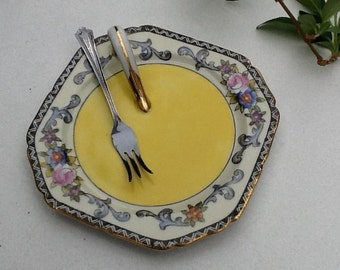 Noritake Lemon Wedge Server with Sterling Lemon Fork