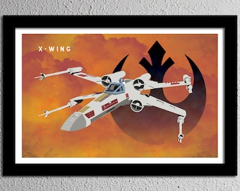 X-Wing Star Wars Rebel Alliance Poster