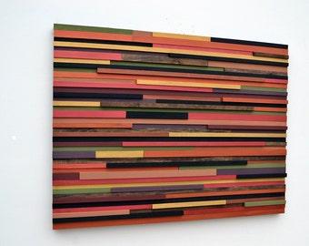 Wooden Art Wall Sculpture - Reclaimed wood - Abstract Sculpture