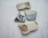Scottish Blossoms North Sea Pottery Pieces SP1155